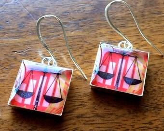 Libra Scales Earrings