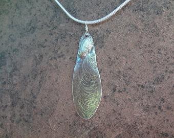Maple seed pendant