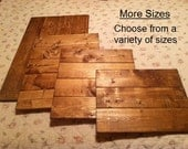 """Make your own sign, Sign Supplies, Ready to Paint,wood blank, sign blank,pallet style,variety of sizes,stained wood 1/4"""" thick, light weight"""