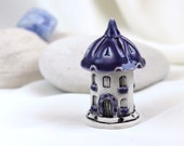 Purple lavender House of tiny fairies - Hand Made Ceramic Eco-Friendly Home Decor by studio Vishnya