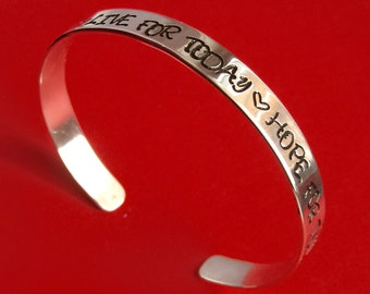 Personalized Solid Sterling Silver Cuff Bracelet Choose Up to 50 Characters
