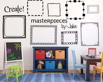 Kids artwork masterpieces picture frames display DB406