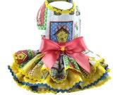 Easter Patchwork Bunny dog dresses