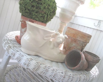 Vintage Puppy Dog Planter * USA * Shawnee * McCoy * Shabby Farmhouse