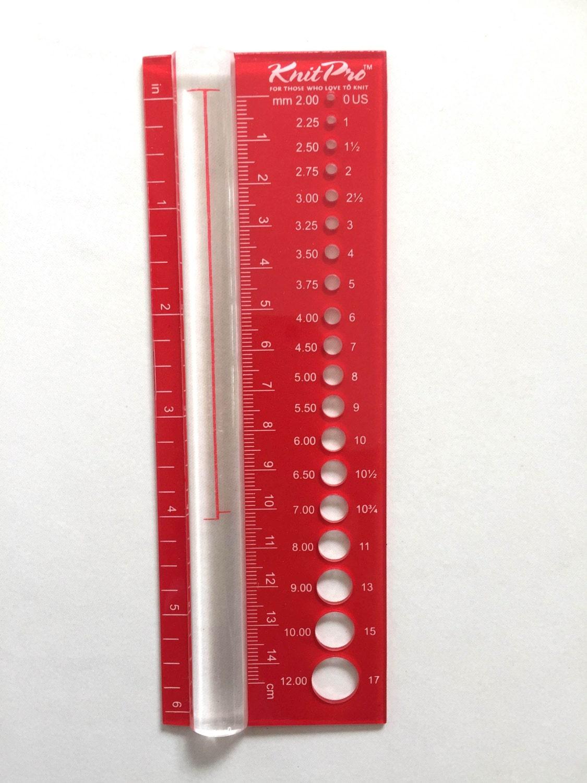 Knitting Accessories Australia : Knitting needle gauge knitpro size viewer