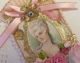 Marie Antoinette ATC ACEO Artist Trading Card Original Art Card Mixed Media ATC