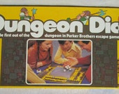 Vintage Parker Brothers Dungeon Dice Game 1977 Complete