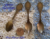 Brass Ox Plated NOEL Spoons Lot of 3 After Christmas Sale! Last of these! Made in the USA!