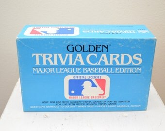 last chance Vintage MAJOR LEAGUE BASEBALL Golden Trivia Cards complete 1984