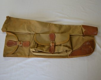 sale Vintage TAKE DOWN RIFLE bag case leather canvas 1940's 50's