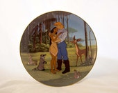 "1995 Bradford Exchange Disney Pocahontas ""Love's Embrace"" collector plate"