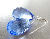 BIGGEST SALE EVER Blue Topaz Sterling Silver Earrings