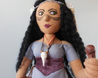 Midnight Witch art doll