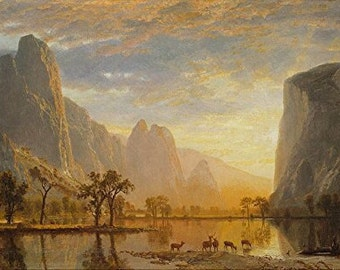 "Bierstadt ""Valley of the Yosemite"" Laser Cut Wooden Jigsaw Puzzle"