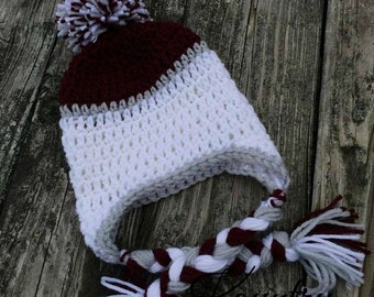 Earflap Crochet Hat - Earflap Hat - Crochet Hat - Earflap Crochet Hat - Baby Hat - Ready To Ship