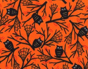 Happy Howloween  1 yard Remnant 19552-13 Orange Black