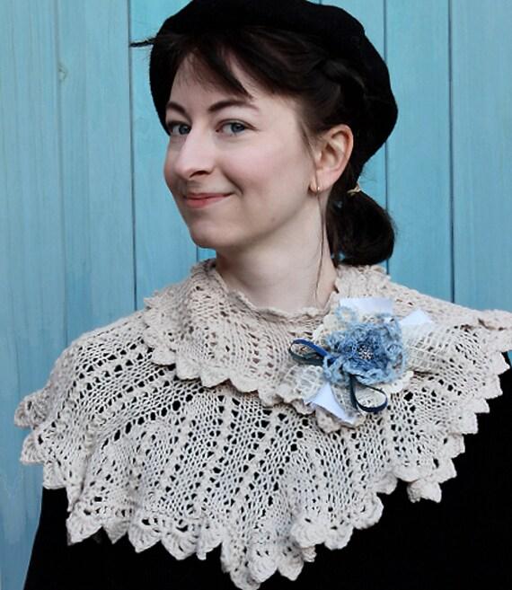 Lace scarf, wedding shawl, knit scarf,victorian shawl,edwardian shawl,cream wedding shawl,lace scarf,handknitted,romantic wedding