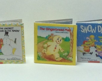 Misc. One Inch Scale Holiday Children's Books Set of 3 books (BK-H)