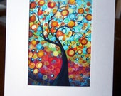Fall Tree Giclee Print, Print on Paper, Painting Print, Whimsical Print Buy 2 Get 1 FREE Holiday Special Deals
