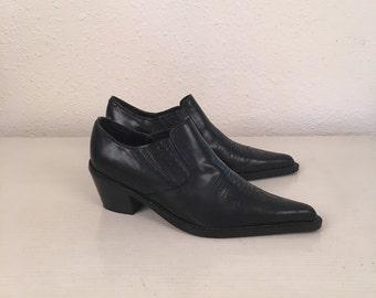 Black western ankle boots sz 6