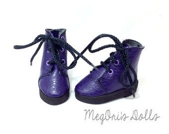 Sasha doll shoes, Purple Boots, Lace Up Hiking Boots