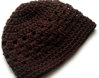 Crochet Beanie Hat, Mens Crochet hat, Womens Crochet Hat,  Plain Crochet Hat, MADE TO ORDER in your color request