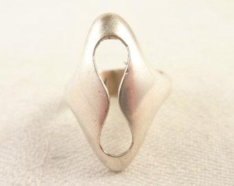 Size 6.5 Vintage Danish Sterling Modern Designer Ring from Herman Siersbol