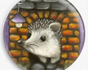 Needle Minder, Licensed Art, Tanya Bond, Hedgehog, Cross Stitch Keeper, Fridge Magnet
