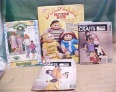 Vintage 4 Cabbage Patch Patterns Collection Dolls, Clothes, Girls,Fashion Sewing #A124