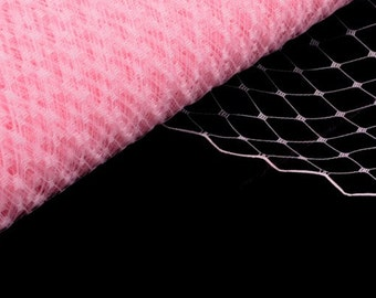 Veil Fabric, Veiling for Hats and Birdcage Veils Pink - Wholesale Available