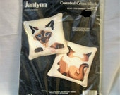 Cross Sitich Kit, Cat Cross Stitch,Two sided Pillow, JANLYNN Cross Stitch Kit, counted cross stitch