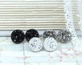 Stud Earring Set Druzy Stud Earrings Hypoallergenic Faux Druzy Earrings Set Of 3 Druzy Studs