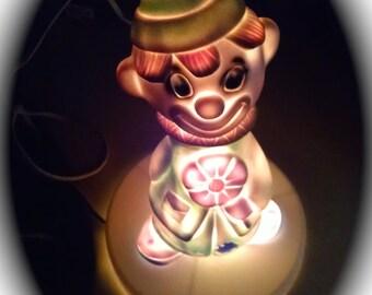 Nursery Light Vintage Protecto Nursery Light Clown Lamp Light Retro Night Light
