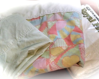Twin Sheet Set /  Re -Mix Sheets /  Vintage  Linens / Retro Sheets / Polyester Cotton Blend  / Cannon  / NOS /  NIP