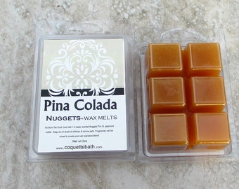 Pina Colada Scented Wax Melts, tropical drink scent, strong wax melts, pineapple and coconut