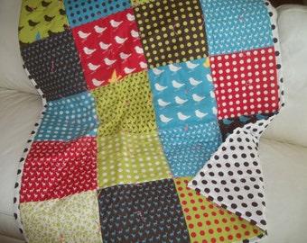 Throw Quilt, Lap Quilt, Patchwork Quilt, Modern Patchwork, Woodland