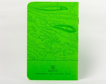 Mars Island Letterpress Notebook Green