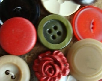 16 Antique and Vintage Large Buttons Mixed Vintage Buttons Lot 400