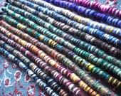 Ready To Ship Random Wrappy Style Yarn Hair Wrap Extension Atebas Single Ended Loop Braid-In Dread Accessory Many Rainbow Colors Striped