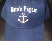 Custom Boat Lake Fishing Hat for Papaw- Personalized