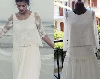 Laure de Sagazan Skirt Bergman And Top Pagnol Inspired Wedding Dress