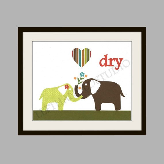 Christmas Bathroom Decor Target : Target circo elephant bathroom art print kids room decor