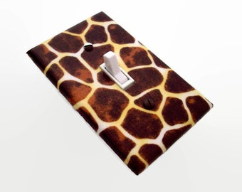 Giraffe Print Light Switch Cover - Animal Print Switch Plate - Giraffe Switch Plate Cover - Giraffe Outlet Cover - Safari Bedroom Decor
