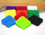 Pot Scrubbers, 10pk, nylon net, scour pad, home, kitchen, bath, cleaning aid, eco-smart, 20 colors. PLEASE pick colors from color list.