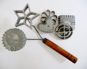 Rosette & Timbale Set Swedish Fried Cookies Iron - 6 Molds Nordic Ware