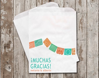 Personalized Treat Bags...Choose your colors.....Muchas Gracias!