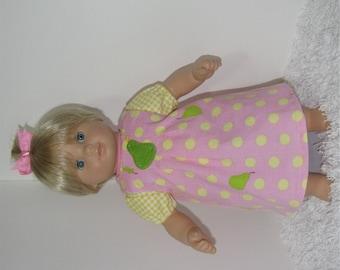 Pink Jumper Set, Fits 15 Inch American Girl Bitty Dolls