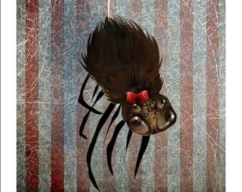 SUMMER SALES EVENT 5x7 Fine Art Print - 'Ms. Spider on her Own' - Small Sized Giclee Print by Artist Jessica Grundy