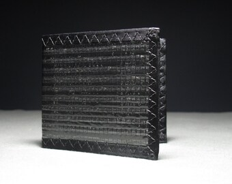 Carbon Fiber MEGAfold Double ID Wallet - Oversized Mens Bifold Wallet - Black