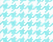 25% off Michael Miller Everyday Houndstooth Aqua  - Fabric 1 yard off of bolt (more available)